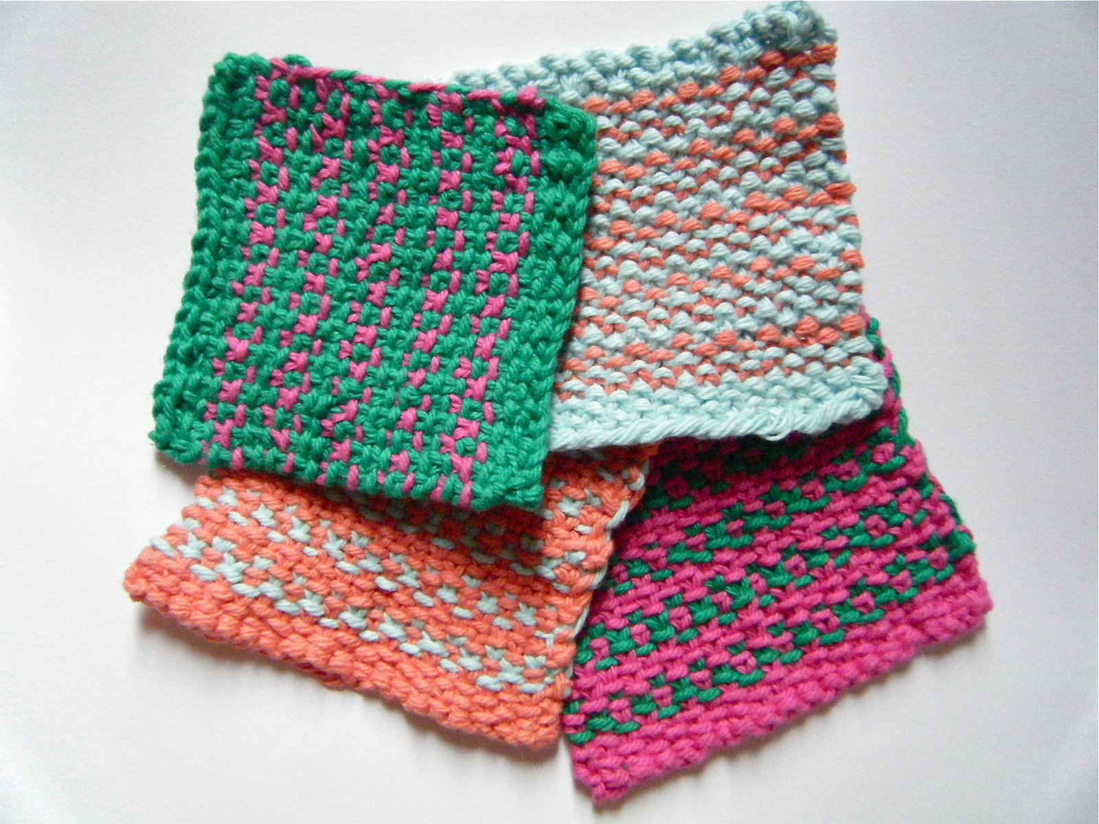 Knitted Coasters Free Patterns : Tribal Stripe Coasters {Knitting Pattern!} prairiesque