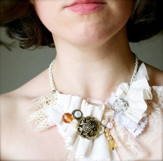 scrapfabric;necklace