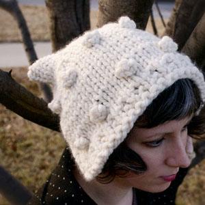 Snow Kitteh Winter Bonnet